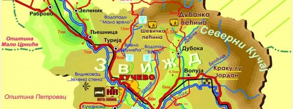 Мапа Општине Кучево