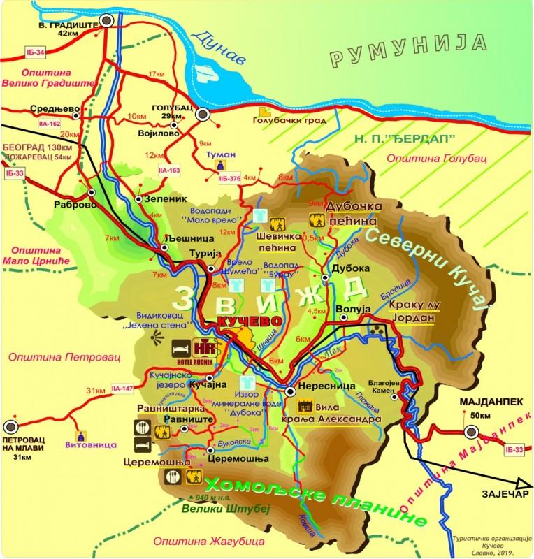Mapa Opštine Kučevo