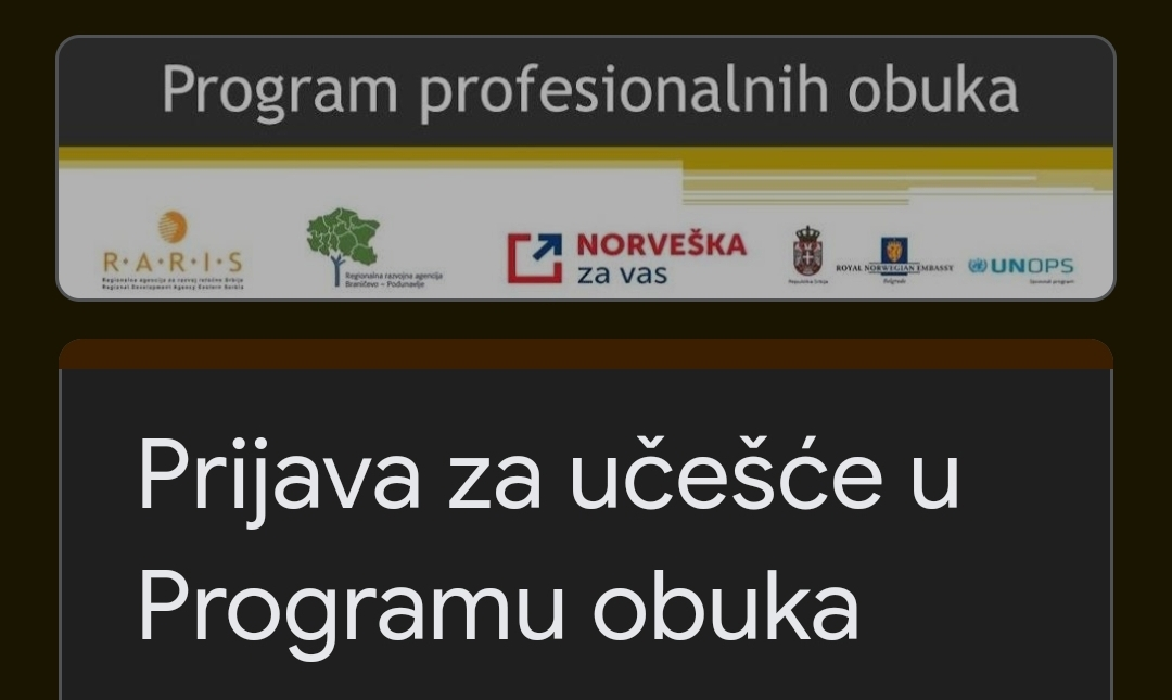 Obuka za nezaposlene u oblasti turizma u sedam opština Braničevskog okruga